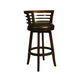 Pastel Furniture Ortona Swivel Wood Barstool in Distressed Cherry (Set of 2) OR-225-30-DC-656