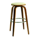 Pastel Furniture Yohkoh Swivel Barstool in Chrome and Walnut Veneer (Set of 2) YH-215-30-CH-WA-978