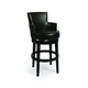 Pastel Furniture Zedar Swivel Barstool in Feher Black (Set of 2) ZA-227-30-FB-867