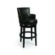 Pastel Furniture Zedar Swivel Barstool in Feher Black (Set of 2) ZA-227-26-FB-867