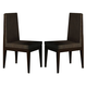 J&M Float Modern Dining Chair in Dark Oak (Set of 2)