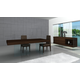J&M Float Modern Dining Set in Dark Oak