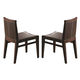 J&M Elegance Dining Chair in Dark Oak (Set of 2)