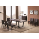 J&M Class/Elegance Modern Dining Set in Dark Chocolate