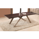 J&M Nova Rectangular Dining Table in Dark Oak 17816