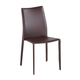 J&M Modern Dining Leather Chair in Chocolate (Set of 4)
