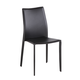 J&M Modern Dining Leather Chair in Black (Set of 4)