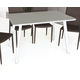 J&M Modern Rectangular Dining Table in White Lacquer 17780