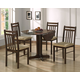 Acme Copenhagen 5 Piece Drop Leaf Dining Set in Espresso