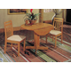 Acme Copenhagen 5 Piece Drop Leaf Dining Set in Oak
