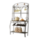 Acme Furniture Kiele Baker's Rack in Oak and Antique Black 71128