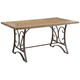 Acme Furniture Kiele Dining Table in Oak and Antique Black 71150