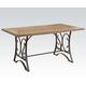 Acme Furniture Kiele 8 Piece Dining Set in Oak and Antique Black