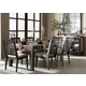 Legacy Classic Helix 7 Piece Rectangular Leg Dining Set in Charcoal and Stone