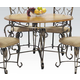Acme Furniture Venetian Round Dining Table in Oak 07720