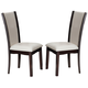 Acme Furniture Malik Side Chair in Espresso/ White (Set of 2) 70502