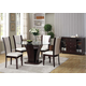 Acme Furniture Malik 6 Piece Round Dining Set in Espresso