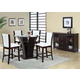 Acme Furniture Malik 6 Piece Round Counter Height Dining Set in Espresso