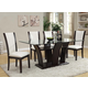 Acme Furniture Malik 6 Piece Rectangular Dining Set in Espresso