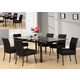 Acme Furniture Parrish 7 Piece Rectangular Dining Set in Black
