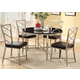 Acme Furniture Misami 5 Piece Round Dining Set in Chrome