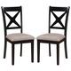 Acme Furniture Sonya Side Chair in Black/Oak (Set of 2) 71293