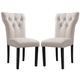 Acme Furniture Effie Side Chair in Beige (Set of 2) 71523