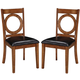 Acme Furniture Kaiden Upholstered Side Chair in Walnut (Set of 2) 71232