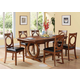 Acme Furniture Kaiden 7 Piece Rectangular Dining Set in Walnut