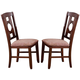 Acme Furniture Naldo Side Chair in Dark Walnut (Set of 2) 60247