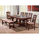 Acme Furniture Naldo 6 Piece Rectangular Dining Set in Dark Walnut