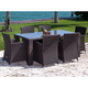 Source Outdoor St. Tropez Dining Set in Espresso