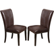 Acme Furniture Fraser Upholstered Side Chair in Espresso (Set of 2) 70132