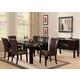 Acme Furniture Adolph 8 Piece Rectangular Marble Dining Set in Espresso
