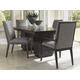 Lexington Furniture Carrera 5 Piece Double Pedestal Dining Set in Carbon Gray