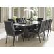Lexington Furniture Carrera 7 Piece Double Pedestal Dining Set in Carbon Gray