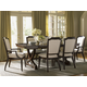Lexington Furniture Kensington Place 7 Piece Westwood Rectangular Dining Set in Brentwood