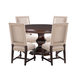 Tommy Bahama Kilimanjaro 5 Piece Maracaibo Round Dining Set in Chestnut Brown