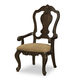 Legacy Classic La Bella Vita Splat Back Arm Chair in Coffee House Brown (Set of 2) 4200-241 KD