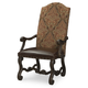 Legacy Classic La Bella Vita Upholstered Back Arm Chair in Coffee House Brown (Set of 2) 4200-341 KD