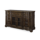 Legacy Classic La Bella Vita Credenza with Marble Inlay in Coffee House Brown 4200-151