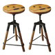 Butler Specialty Industrial Chic Revolving Bar Stool (Set of 2) 2048025