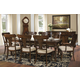 Hekman Charlestone Place 9pc Rectangular Dining Set w/ Panel Arm Chair