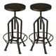Butler Specialty Industrial Chic Revolving Bar Stool (Set of 2) in Black 2883025