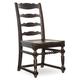 Hooker Furniture Treviso Ladderback Side Chair in Rich Macchiato (Set of 2)