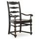 Hooker Furniture Treviso Ladderback Arm Chair in Rich Macchiato (Set of 2)