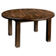 Hekman Harbor Springs Round Leg Dining Table in Rustic Hardwood 942502RH