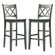 Mestler Tall Counter Stools in Blue/Green (Set of 2) D540-130