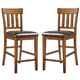 Ralene Upholstered Bar Stool in Medium Brown (Set of 2) D594-124