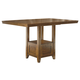 Ralene Rectangular Dining Room Counter Extension Table in Medium Brown D594-42